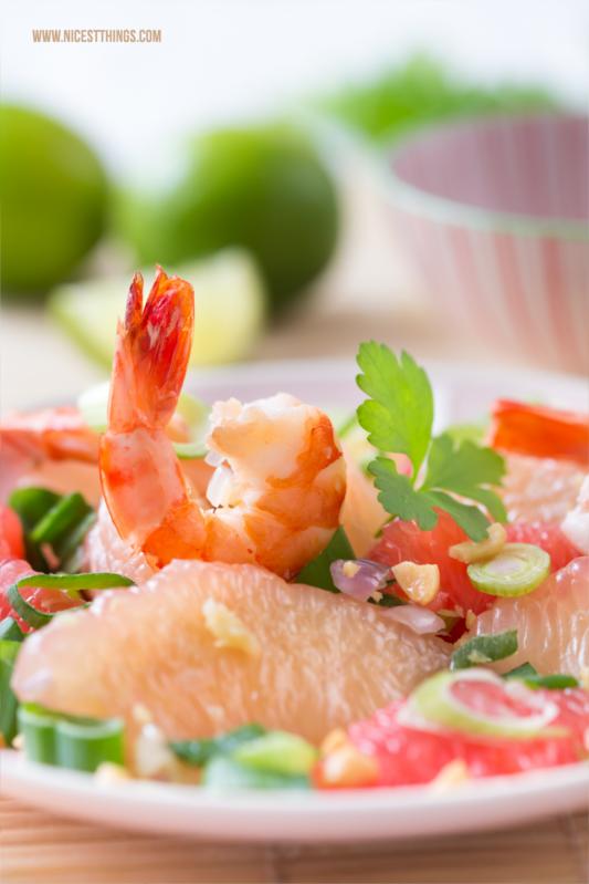 Thai Pomelosalat Rezept mit Garnelen #pomelo #garnelen #thai #salat