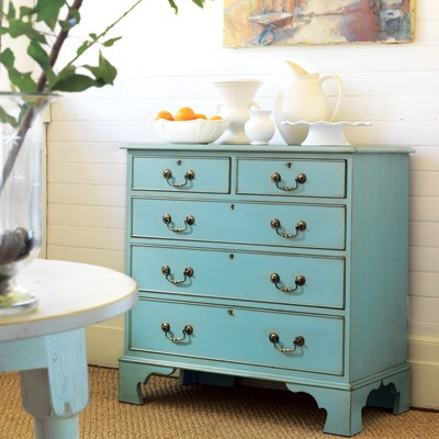 Turquoise/aqua is a very popular colour for painted furniture. It is a very