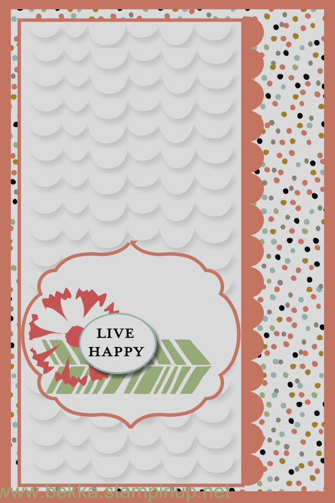 One Big Sale-a-Bration Digital Card including instructions for getting the embossed look on the White layer