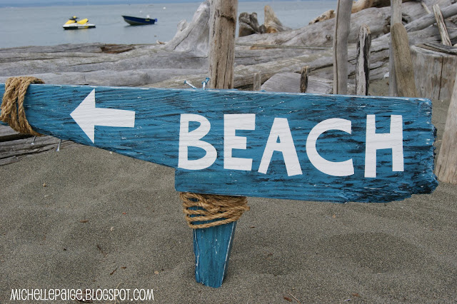 Washed Up Beach Sign