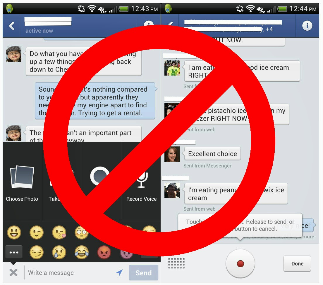 No To Facebook Messenger Android