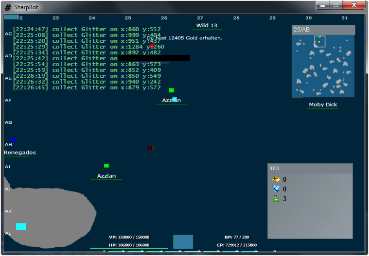 screenshot SeaFight SharpBot Hile Oyun Botu indir