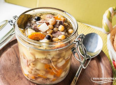 Rozgrzewająca zupa grochowa- grochówka