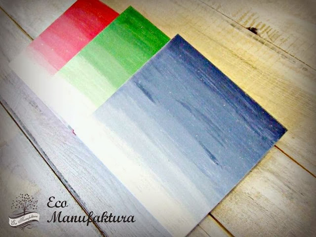 Pudełko hand made ombre - Eco Manufaktura pracownia decoupage i hand made