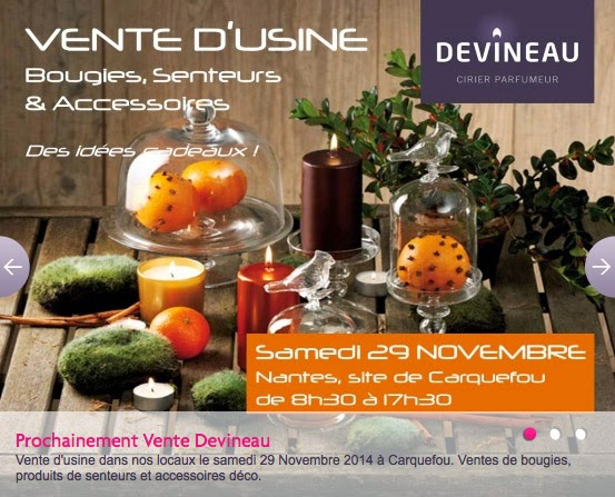 Devineau bougies vente usine novembre 2014 les magasins d 39 usine en france - Liste des magasins d usine en france ...