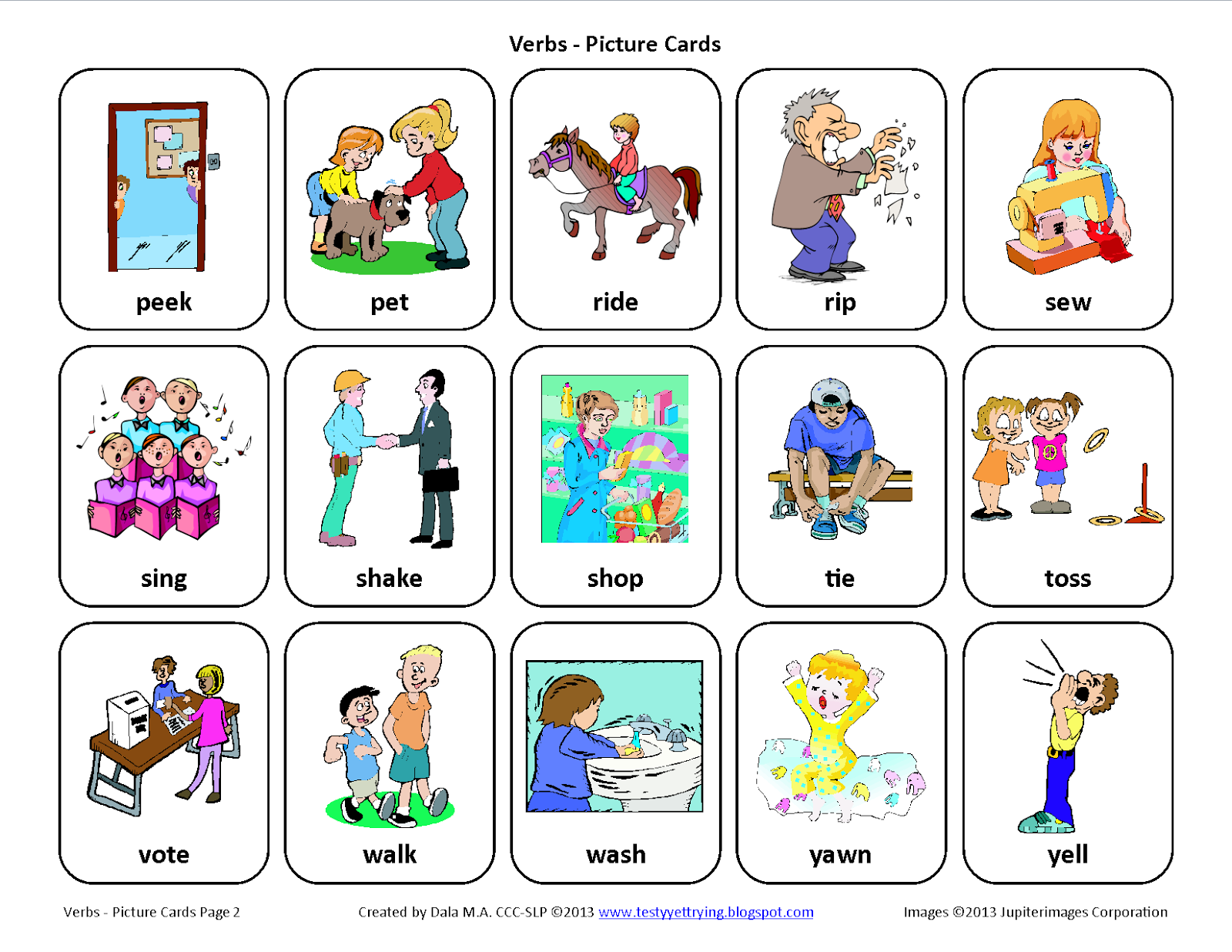 Worksheet Learn Verb 2 verbs lessons tes teach testy yet trying free speech therapy picture cards