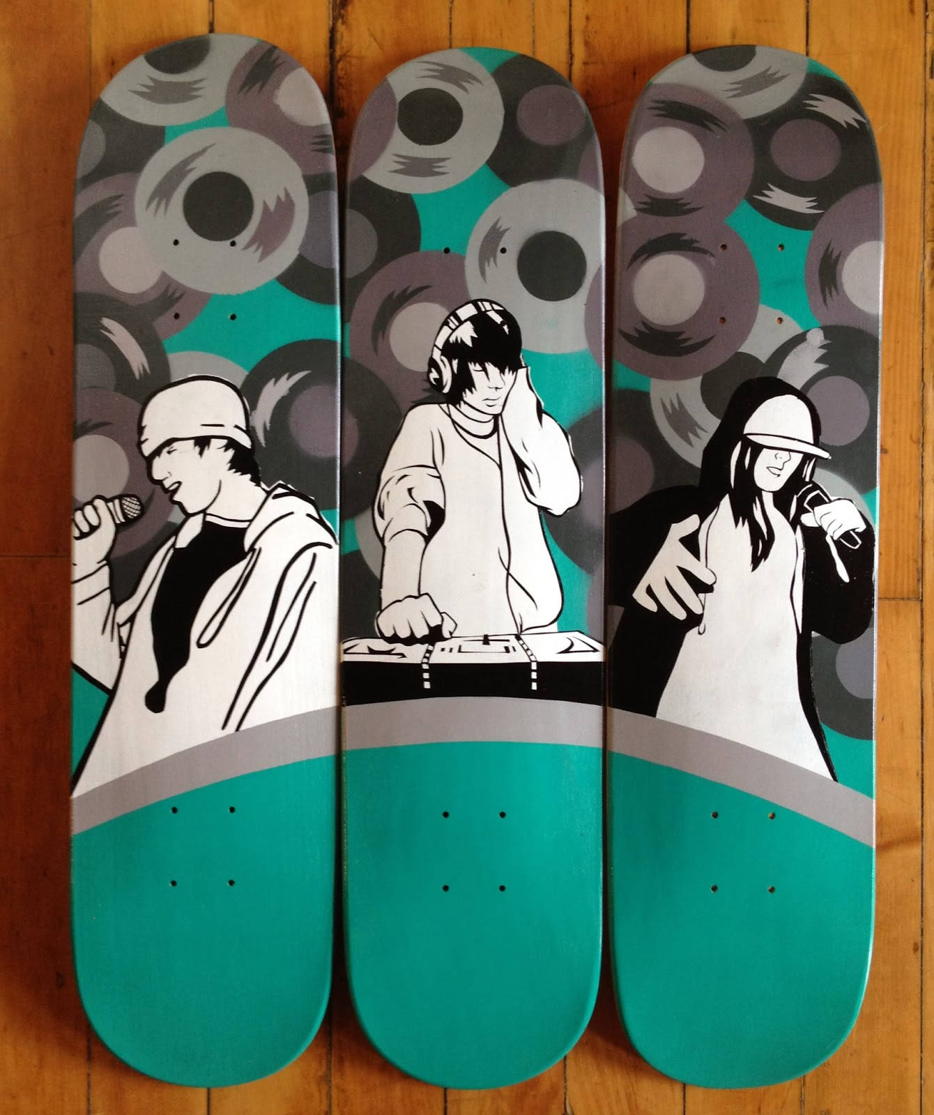 Photo Designer To Add Artist: OASIS SKATEBOARD FACTORY: OSF X Kevin Lyons Skateboards In