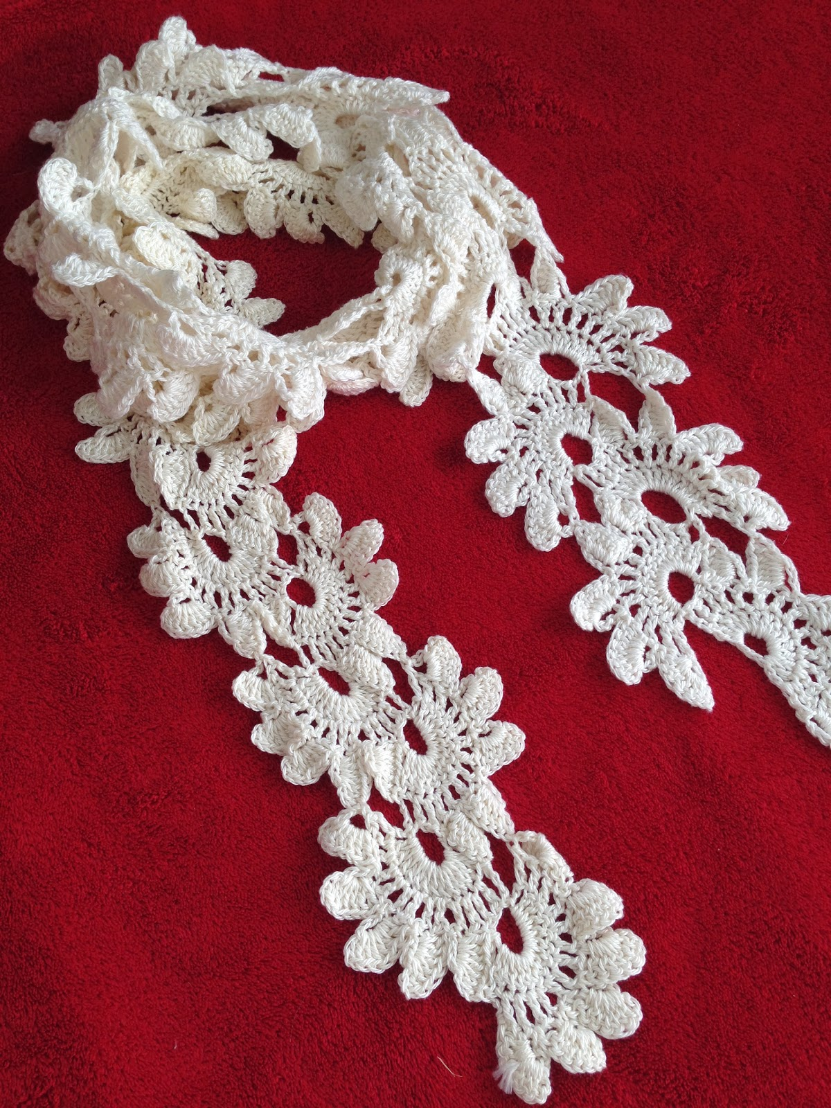 Faery Tale Crochet: Lotus Flower Scarf