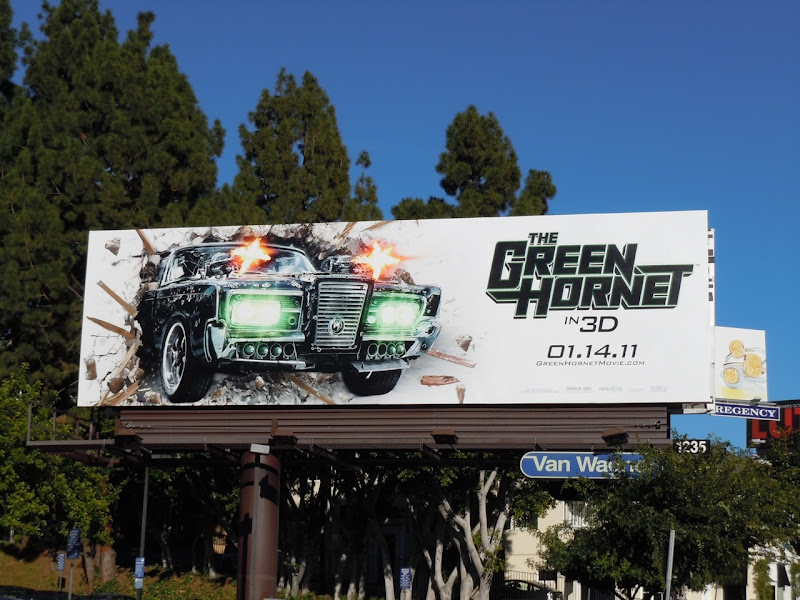 Green Hornet movie billboard