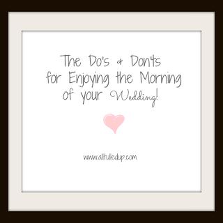 Wedding Morning Tips