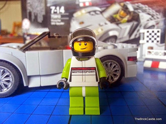 LEGO Porsche 918 Spyder 75910 Hybrid Supercar driver uniform