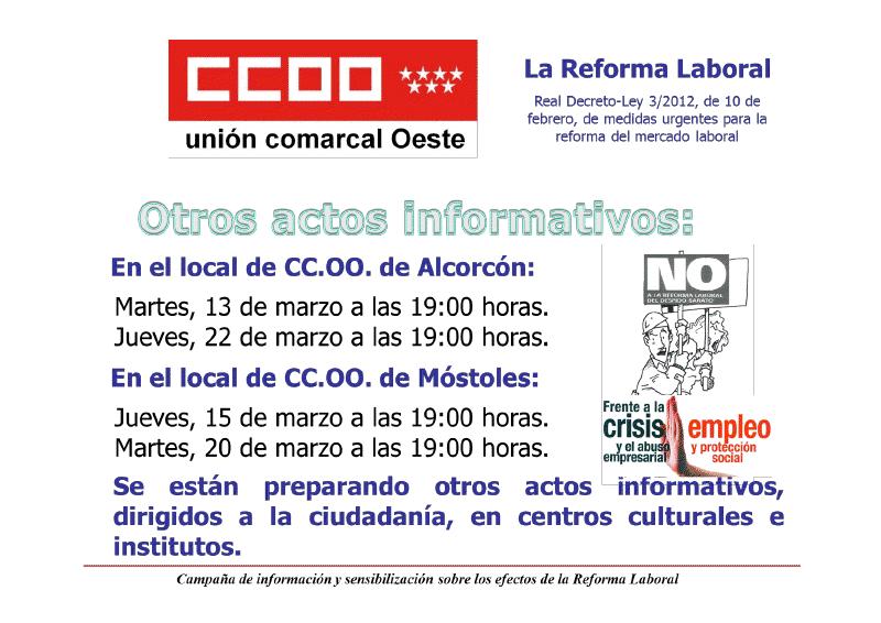 Alcorc n de izquierdas actividades en alcorc n contra la - Reformas en alcorcon ...