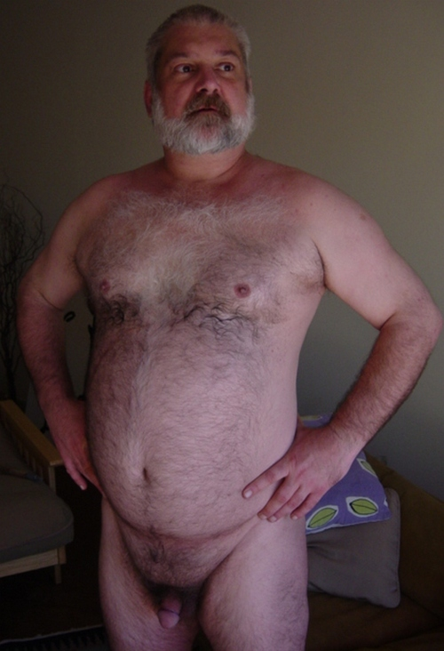 fat hairy naked men - hairy cock - beard sexy mature gay