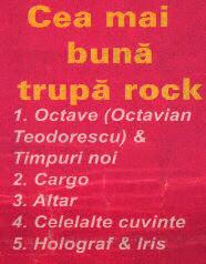1996_Revista Salut_Cea mai buna trupa rock