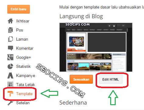 Cara Mencari Kode Tertentu Di Edit Blog Blogger Terbaru