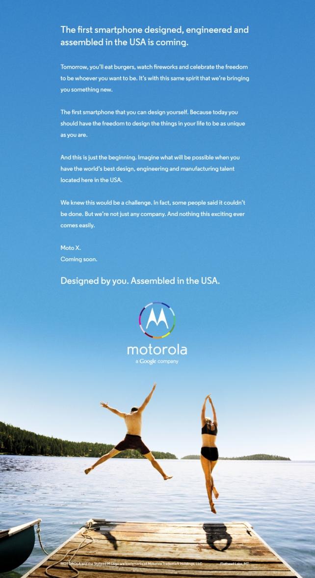 Moto X Ad Campaign