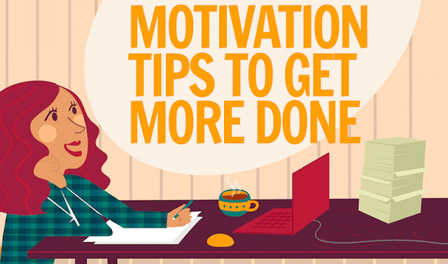 16 Simple Motivation Tips For Marketers To Get More Done - #Infographic