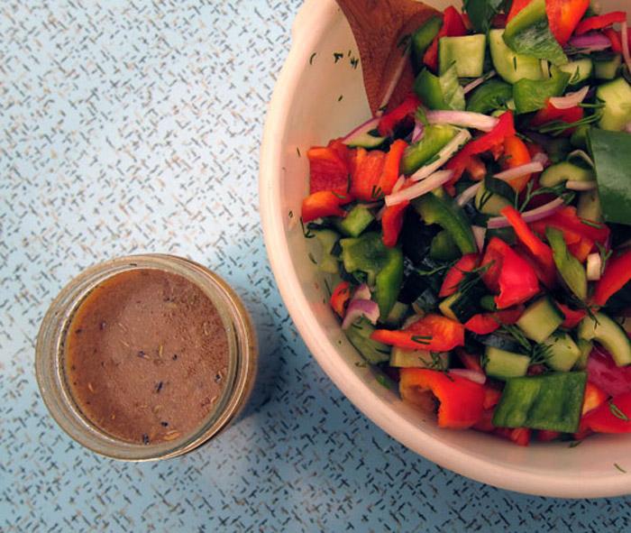 The Big Salad: Greek-Style Keeper Vinaigrette + Salad
