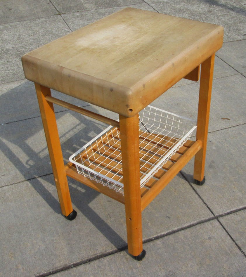 Small Butcher Block Kitchen Island: UHURU FURNITURE & COLLECTIBLES: SOLD Small Butcher Block