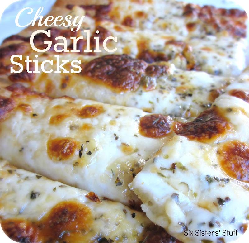 Cheesy Garlic Sticks Recipe | Six Sisters' Stuff