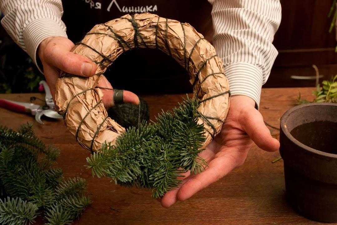 Рождественские кольца своими руками