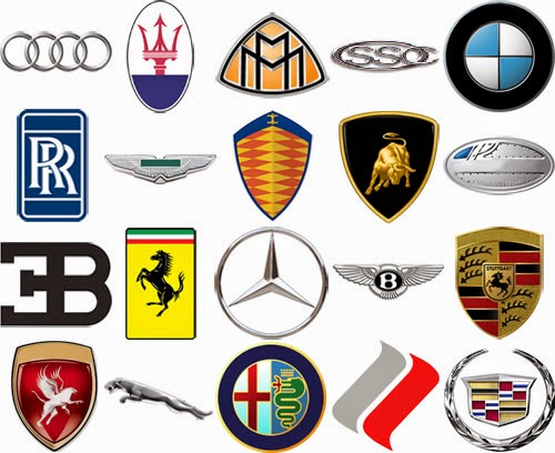 Foreign Car Symbols Luxury Car Bran...
