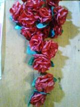 Gambar kreasi rangkaian bunga untuk hiasan dinding