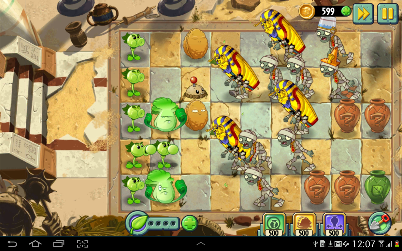 Plants vs zombies 10 slots android