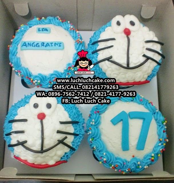 Cupcake Doraemon Buttercream Daerah Surabaya - Sidoarjo