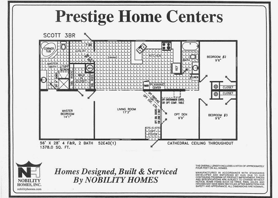 Bedroom  Bath Mobile Home Floor Plans