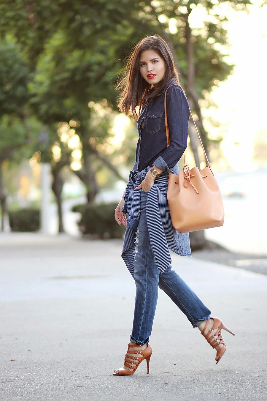 Street Style Inspiration Bucket Bag
