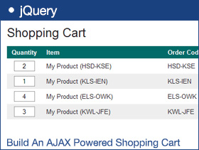 Build An AJAX Powered Shopping Cart