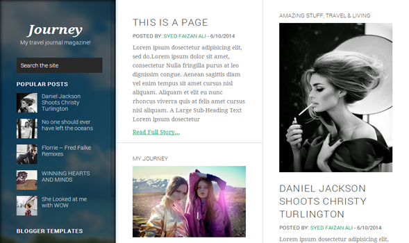 Journy Responsive Blogger Template