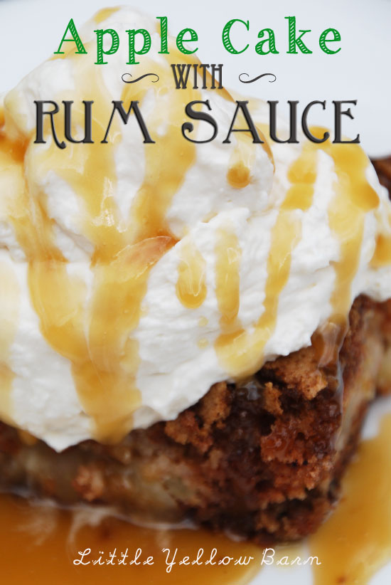 Apple Cake with Rum Sauce