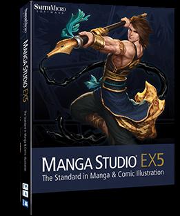 MangaStudioEX5 Boxshot Manga Studio EX 5.0.3