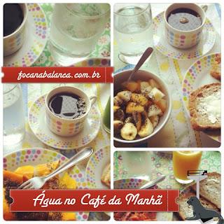 Água no Café da Manhã