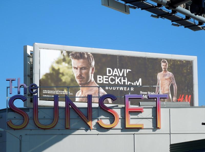 Beckham HM underwear Spring 2013 billboard