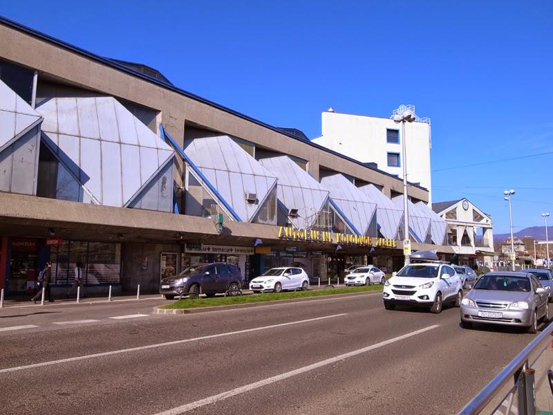 ザグレブの長距離バスターミナル