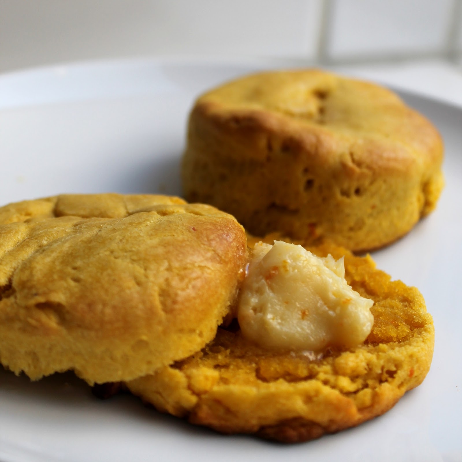 The Stay At Home Chef: Sweet Potato Biscuits with Orange Honey Butter