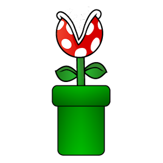 planta piraña en tuberia Dibujos mario bros para imprimir
