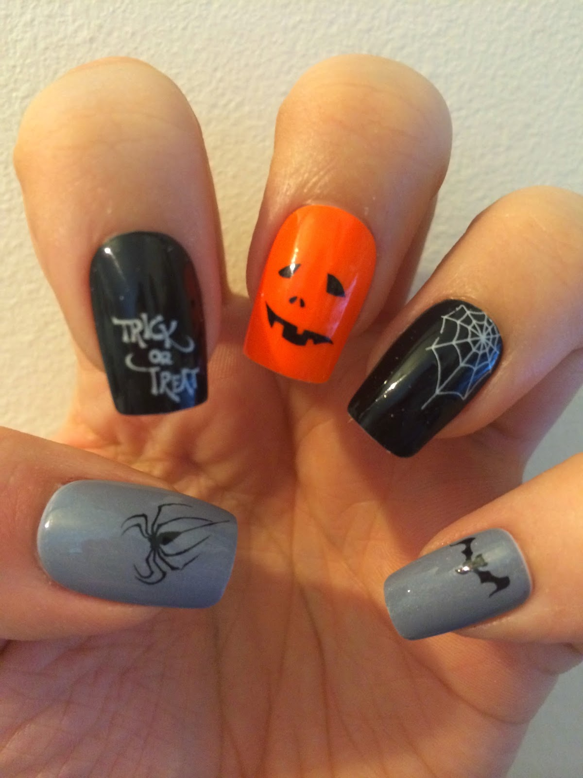 Sparkly Nails Spooky Spider Water Decals