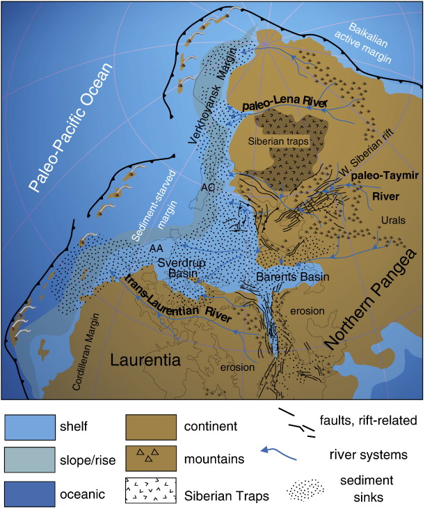 The Dragons Tales Triassic River Systems Of Northwest Pangea - Lena river on world map