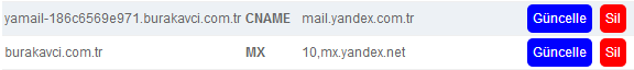 Domain Mail Hostingsiz Yandex Kurum Mail