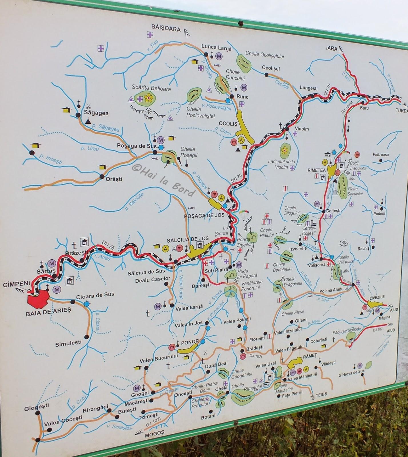 harta trasee obiective bedeleu