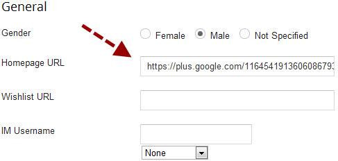 Masukan Link URL Google Plus