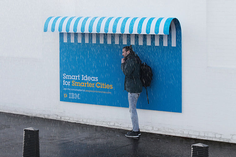 Viralmente ibm turns its ads into useful urban furniture for Advertising agency paris