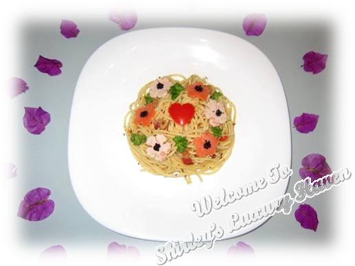 flower garden aglio olio with caviar recipes