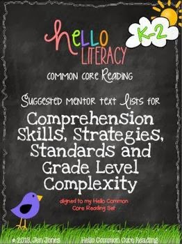http://www.teacherspayteachers.com/Product/FREE-Mentor-Text-Lists-for-Common-Core-Reading-Literature-Standards-K-2-613322