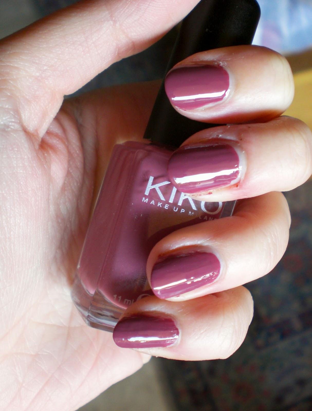 abbastanza The taste of ink: Kiko - smalto 317 Rosa antico scuro SK42