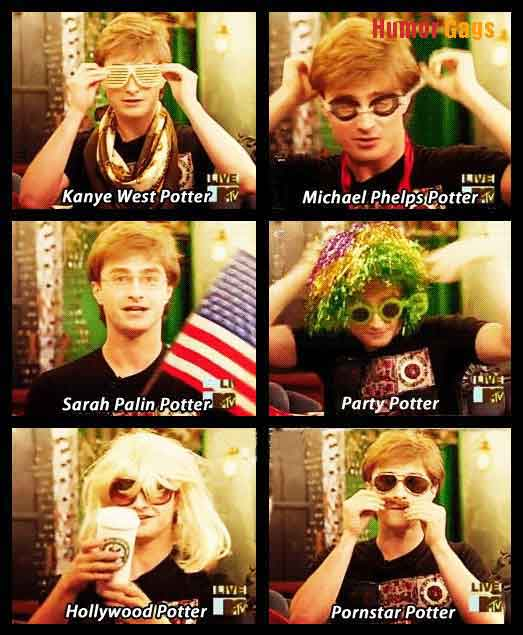 Harry potter in 6 different looks humor gags